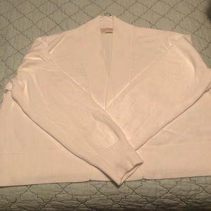 Michael Kors white bolero sweater